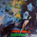 Dreidimensional, 1987, Mischt./LW, 175 x 140 cm, 1.600,--€