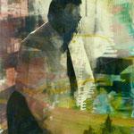 Ruckes, 1991, Mischt./Fotoemulsion/LW, 70 x 100 cm