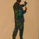 Mauerspecht, 1991, Öl/LW, 56 x 70 cm
