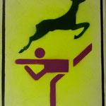 Gazelle, 2007, Mischtechnik auf Hartfaser, 66 x 96 cm, 250,-€