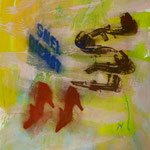 Snel Dienst, 1995, Mischtechnik/LW, 125 x 160 cm
