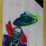"""Polke, 1991, Hgl, 43 x 53 cm, 280,-€, Aus der Serie """"Freunde und Bekannte"""""""