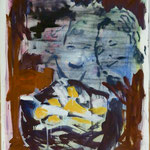 Köpfe und Kippen, Ölpapier, 1988, 87 x 120 cm