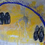 Paar,Mischt./LW, 1992, 160 x 120 cm