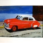 Traumwagen rot-weiß, 2011, Hgl, 77 x 50 cm,                 600,-€