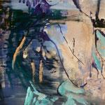 Fischerin, Ölpapier, 1988, 50 x 73 cm