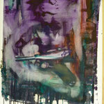 Pistolenfrau, Ölpapier, 1988, 52 x 67 cm