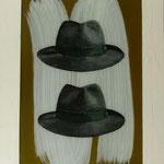 2 Herrenhüte, 2012,Hgl, 56 x 75 cm, 550,-€