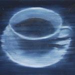Tasse, 2002, Öl/LW, 100 x 76 cm