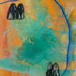 Schuhe, 1992, Mischt./LW, 120 x 160 cm