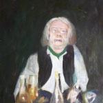 Portrait Reiner Römer, 1985, Öl/LW, 90 x 107 cm,