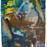 Campingliebe, Ölpapier, 1988, 67 x 89 cm
