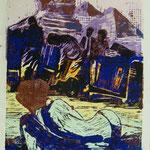 Erinnerung, Farblinol, 1989, Aufl. 16, 53 x 79 cm