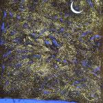 Blaue Nacht, 2001, Mischt./LW, 107 x 133 cm, 800,--