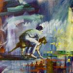 Hermes, 1988, Mischt./LW, 120 x 150 cm, 1.100,--€