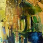 Töpfe, 1998, Mischtechnik/LW, 110 x156 cm