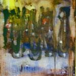 Bierflaschen, Ölpapier, 1988, 47 x 65 cm