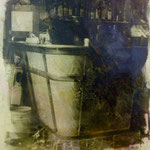 Bar Espagna, 1991 Mischtenik/Fotoemulsion/LW, 70 x 100 cm