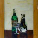 Flasche und Karaffe, 2000, Hgl, 48x64 cm, 380,-€