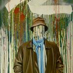Der Kopf des Malers, 1982, Öl/LW, 102 x 160 cm