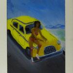 NY-Taxi, 1983, Hgl, 44 x56 cm,  300,-€