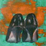 Pumps, 1993, Öl/LW, 60 x 70 cm