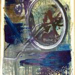 Fahrrad, Ölpapier, 1988, 80 x 108 cm