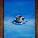 Blue Espresso,1999, Hgl, 45 x 55 cm, 300,-€