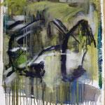 Rolltreppe, Ölpapier, 1988, 54 x 69 cm