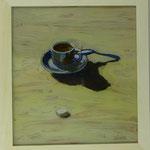 Tasse un Zuckerwürfel, 2001, Hgl, 46x50 cm, 300,-€