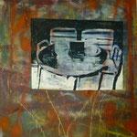 2 Bier, 1990, Mischt./LW, 113 x 140 cm