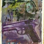 O.T., Ölpapier, 1988, 60 x 83 cm