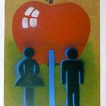 Adams Apfel, 2007, Mischtechnik auf Hartfaser, 66 x 96 cm, 250,-€