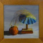 Apfel+ Hütchen, 2001, Hgl, 54 x52 cm, 280,-€
