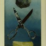 Stein, Schere, Papier,2009, Hgl, 35 x 62 cm, 250,-€