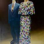 Kleiderpuppen, 1982, Öl/LW, 140 x 190 cm