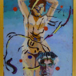 """Picabia II, 1991, Hgl, 43 x 53 cm, 280-€, Aus der Serie """"Freund und Bekannte"""""""