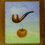 Pfeife und Apfel, 2002, Hgl, 50 x 58 cm, 320,-€
