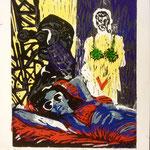 O.T., Farblinol, 1986, ca. 37 x 50 cm, noch 8