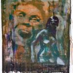 Badende, Ölpapier, 1988, 65 x 87 cm