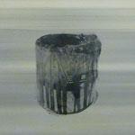 Farbtopfserie, 6 Stück, 1991, Mischt.Fotoemulsion/LW, 70 x 70 cm, je 200,--€