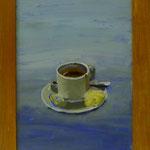 Tasse auf Blau, 2001, Hgl, 32x47 cm, 170,-€