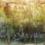 Gruppenbild, 1988, Mischt./Fotoemulsion/LW, 138 x 100,