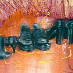 3 Paar Schuhe, 1993, Mischt/LW, 160 x 120 cm,