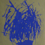 Blaue Pflanze, 1993, Öl/LW, 60 x70 cm, Privatbesitz