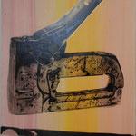 Tacker, 1991, Acryl/Fotoemulsion/LW, 70 x 100 cm,