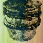 Farbtöpfe, Mischt./Fotoemulsion/LW, 70 x 100 cm