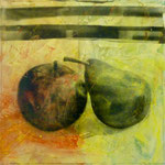 Schräger Vergleich, DGN, 1991, Mischt./Fotoemulsion/LW, 100 x100 cm
