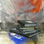 Vorwissen, 1993, Mischt./LW, 120 x 160 cm