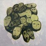 Gesichtsverteilung, Mischt./Fotoemulsion/LW, 100 c 100 cm, 700,--€